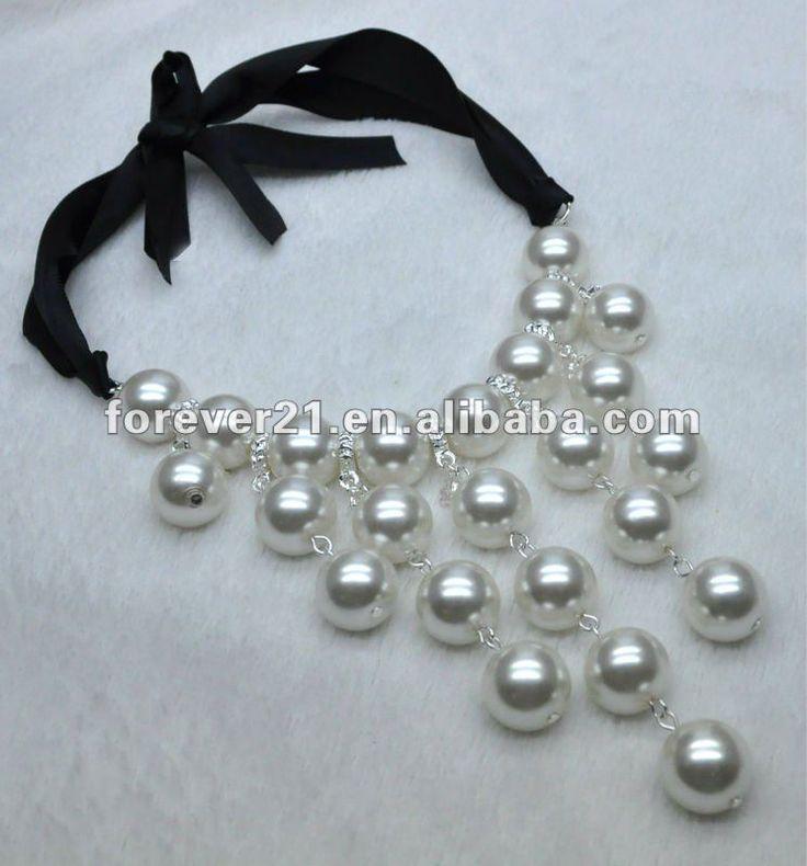 de la burbuja de la perla collar babero-Collares-Identificación del producto:629571180-spanish.alibaba.com