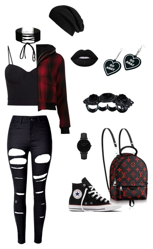 """""""Untitled #153"""" by jokers-babe ❤ liked on Polyvore featuring Alexander Wang, R13, Miss Selfridge, Echo, WithChic, Converse, CLUSE, Dsquared2 and Witch Worldwide"""
