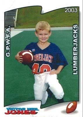 Victor Jones in pee wee football in 2003. Galand, TX