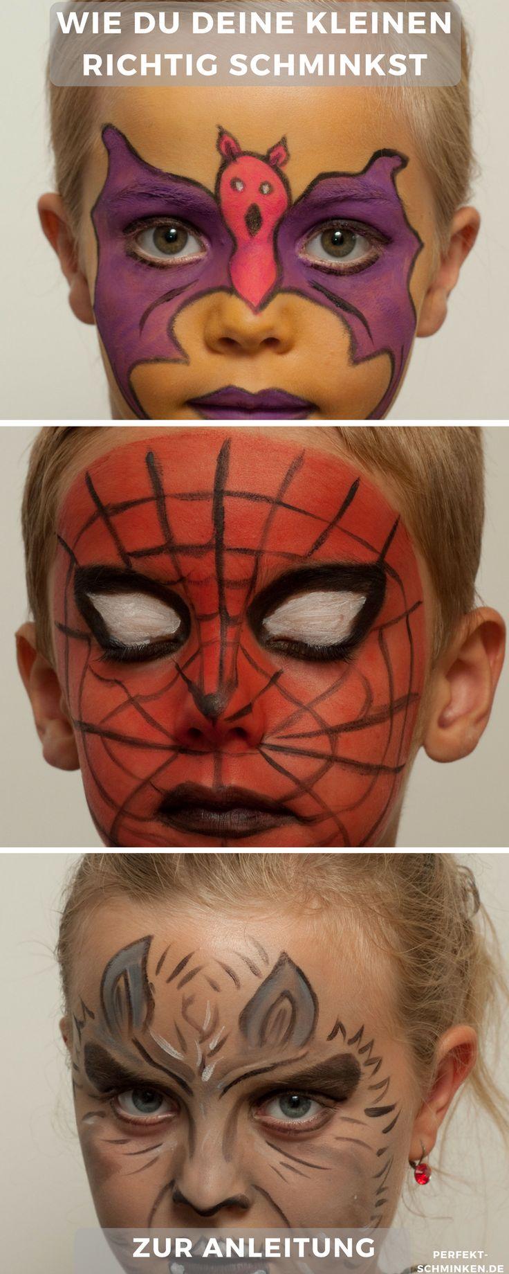 Schaue dir unsere tollen Fasching und Halloween Ideen an  #kinder schminken #halloween #fasching #jungs #anleitung