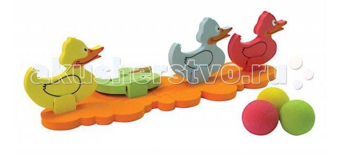 Развивающая игрушка Ouaps Игра на ловкость Сбей утенка 64008Игра на ловкость Сбей утенка 64008Игра на ловкость Сбей утенка 64008 Эта игра, развивающая ловкость, похожа на тир. Цель игры: сбить всех утят как можно меньшим количеством бросков. Набор из высококачественной мягкой пено-резины максимально безопасен. В комплекте: 4 уточки-мишени, 4 мячика, подставка. Упаковка товара - Закрытый блистер с отверстием под крючок. Размер упаковки: 34x50x8см. Возраст: от 3 лет.