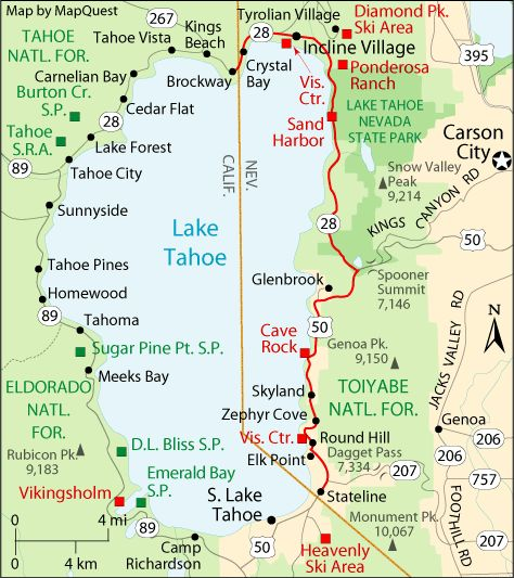 Best Lake Tahoe Images On Pinterest Tahoe California Vacation - Map of reno and lake tahoe