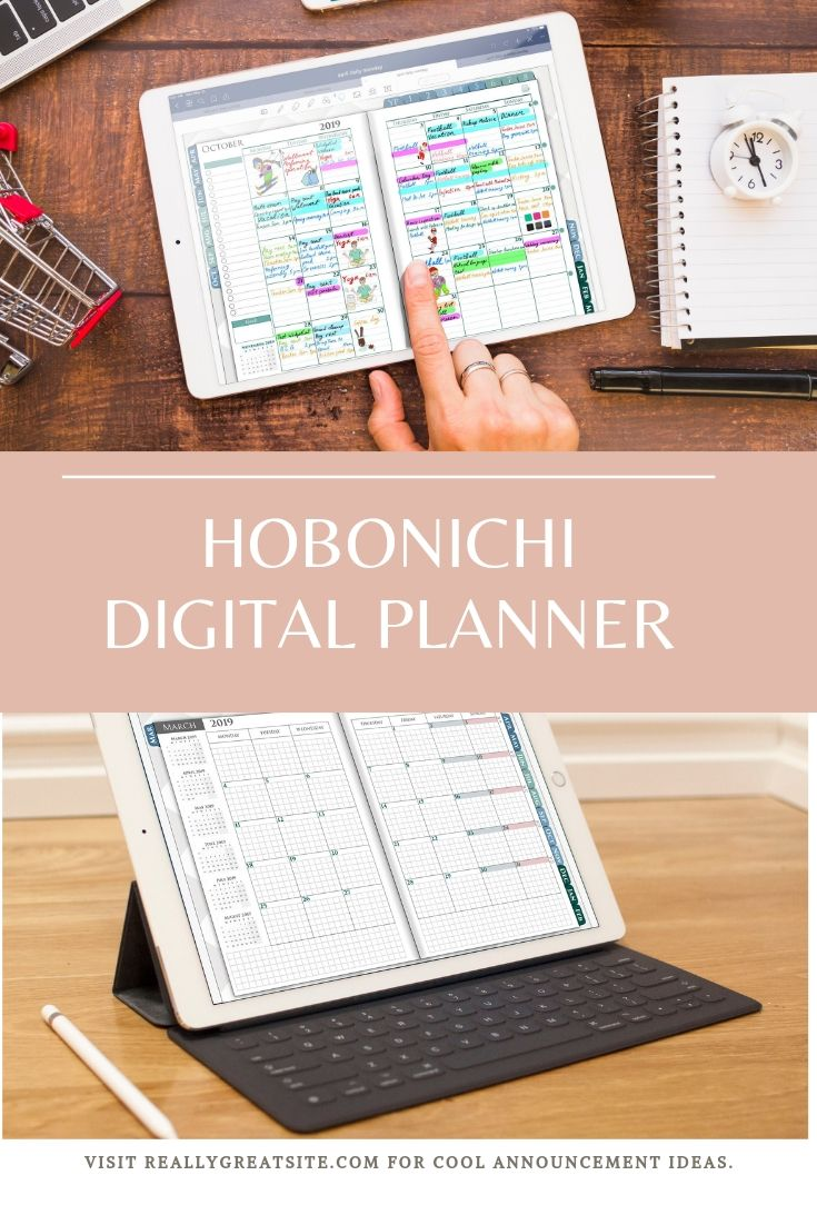 Digital Hobonichi iPad Planner for Goodnotes, Notability and ...