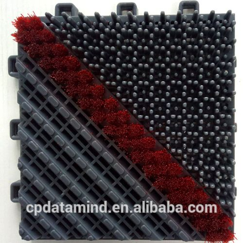 three in one module nylon door mats with one brush cleaning dust