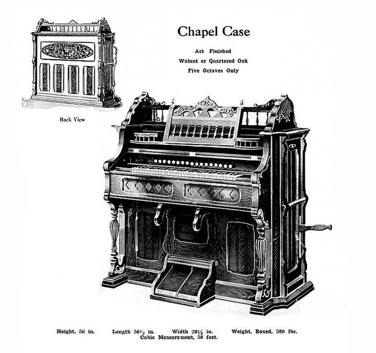 Dominion - 1M Reed Organ. Chapel Case
