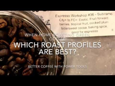 What is the best roasting profile for roasting coffee at home? Here's a great video to show you all you need to know.