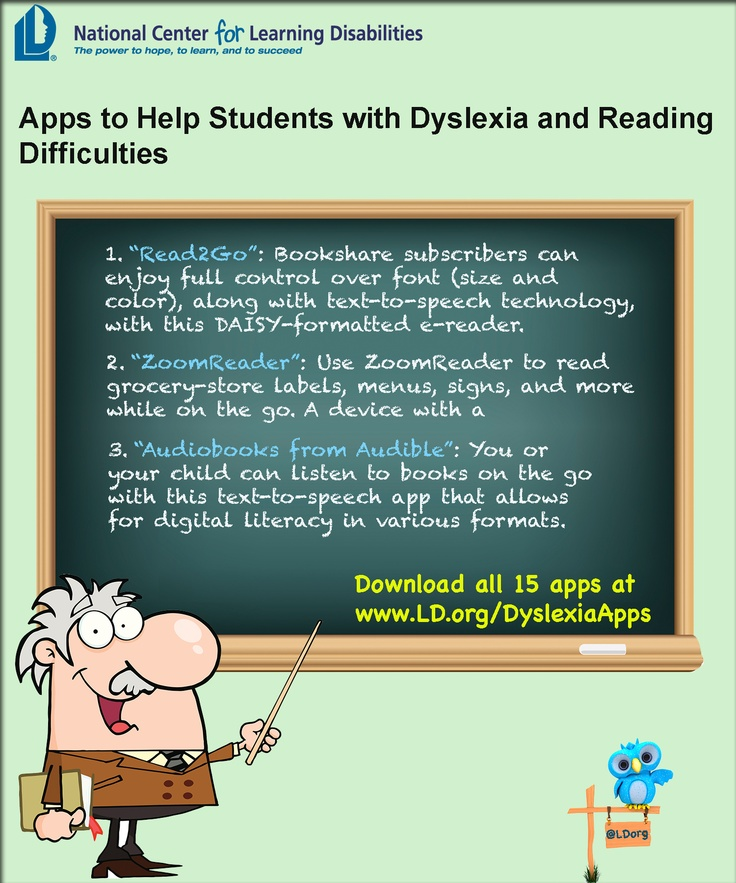 Apps to Help Students with Dyslexia and Reading Difficulties.