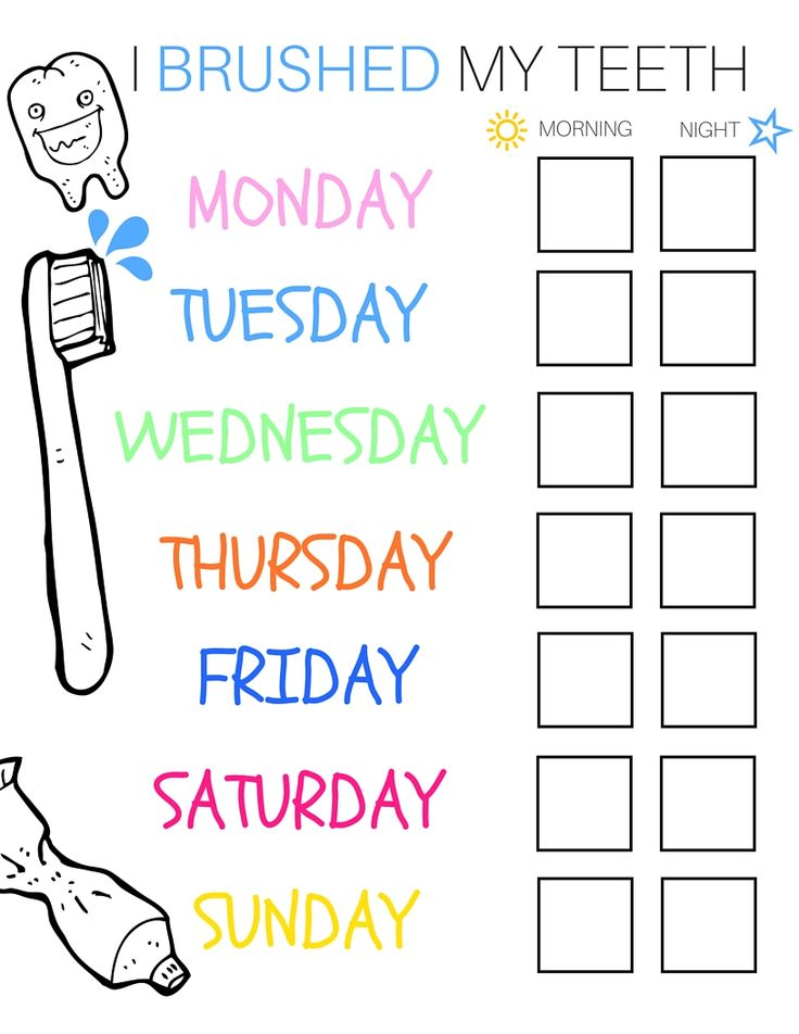 20 best printable brushing charts for kids images on pinterest