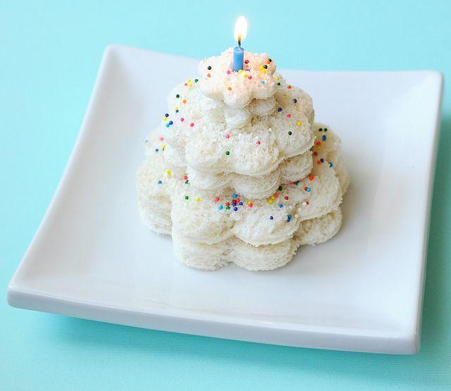 Birthday Cake Sandwich - cute idea