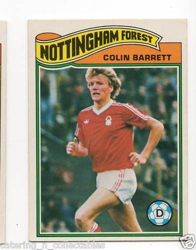 TO-#76 Colin Barrett Notts forest - 1970s football card