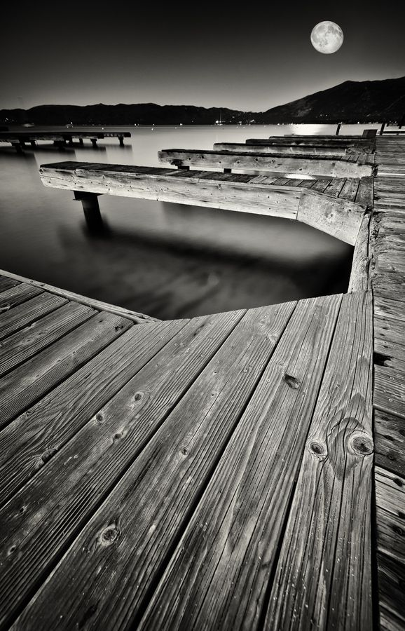 """""""Moon Deck"""" by Chase Morgan.  I just want to crawl into a black and white photo and live there.."""