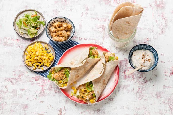 Maandag 3 april 2017 - Kip + tortilla's in de bonus = snelle wraps met de smaak van Mexico - Recept - Allerhande
