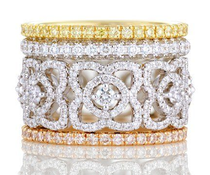 Lovely Lace De Beers diamond rings www.finditforweddings.com