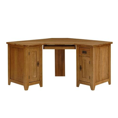 Rustic Corner Desk With Hutch