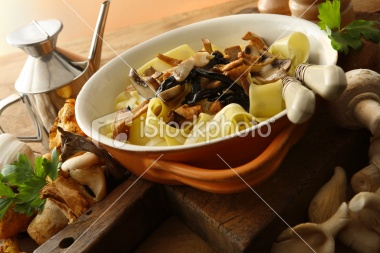 Italian Stills: Tagliatelle with Mushrooms | Stock Photo | iStock
