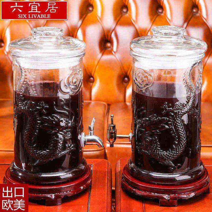 Шесть благоустроенности стеклянная бутылка Колба с краном 10 фунтов 20 фунтов вино банку укупорки вина танка ферментов банку-определиться баррель. com дней кошка