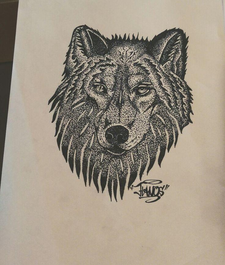 Wolf dotwork