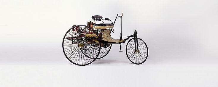 Der originale Benz Patent-Motorwagen aus dem Jahr 1886 – das erste Automobil der Welt.