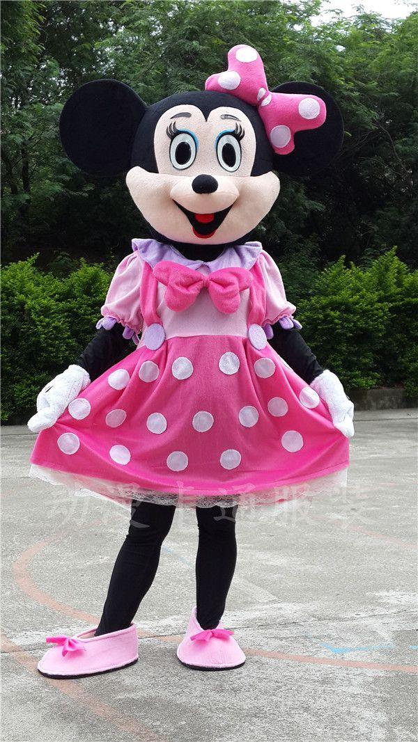 Brand new Pink Minnie Adult Size Cartoon Mascot Costumes