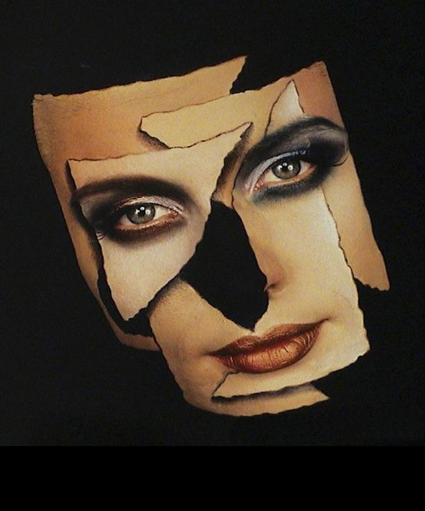 """""""Torn Mask"""" (1987) photography © Robyn Beeche"""