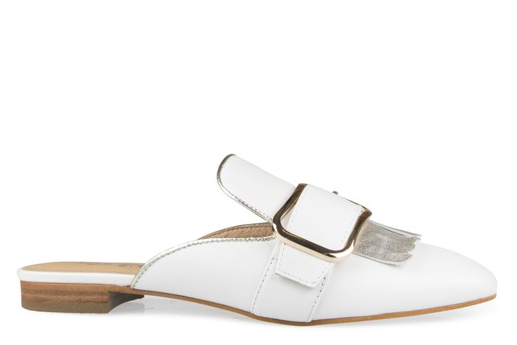 Shoe Connection - Top End - Seducts white leather mules. $199.99 https://www.shoeconnection.co.nz/womens/heels/platforms/top-end-seducts-leather-mule?c=White-Gold