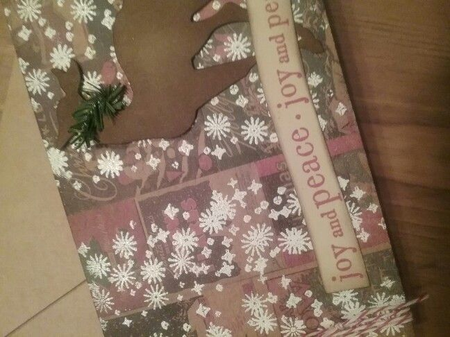 Tim Holtz District Market cards,  distress Paint,  embossing powder.  Snowflakes from Tim Holtz  Christmas  Magic stamps.
