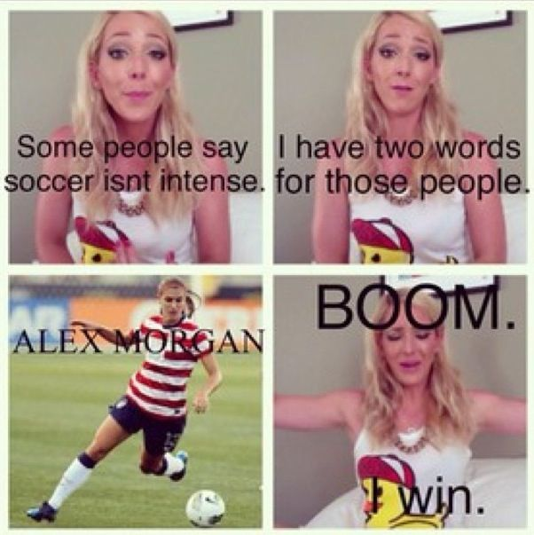 Alex Morgan and Jenna marbles