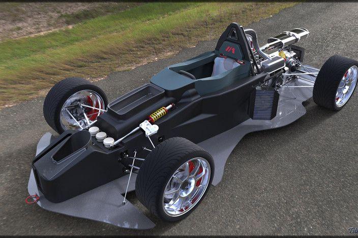 Sports car (with details) BAC MONO - AutoCAD, Autodesk 3ds Max, OBJ, STEP / IGES, Other - 3D CAD model - GrabCAD