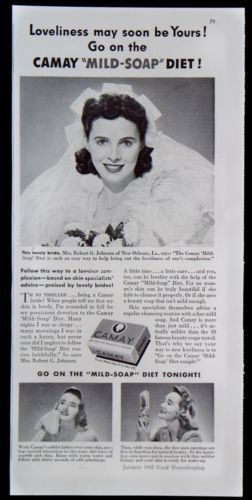 Vintage-1942-Camay-034-Mild-Soap-034-Diet-for-Lovely-Skin-Magazine-Ad