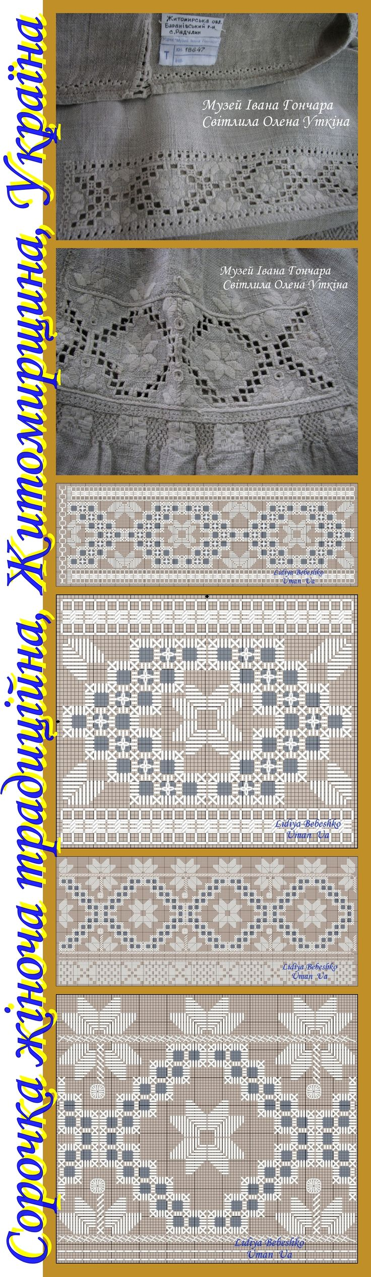 Вишивка на традиційній жіночій сорочці, Житомирщина, Україна  (з фондів Музею Івана Гончара)