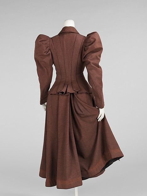 1896 Trouville Cycling suit  Back view of the bifurcated skirt, from the front it looks a normal full skirt. Also, pockets!