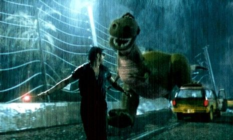 Swapping Out Monsters in Movies is FunnyJurassic Parks, Movie'S Monsters 6, Monsters Swap, Bahaha, Swap Jurassic, Funny Stuff, Monsters Movie, Toys Stories, Movie Monsters