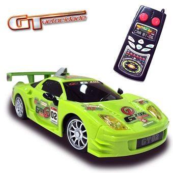 Carro de Controle Remoto – GT Velocidade – G´zox – 49MHz – DTC 3x de R$ 13,33