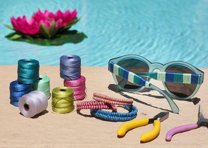 DIY Sunglasses using thread!