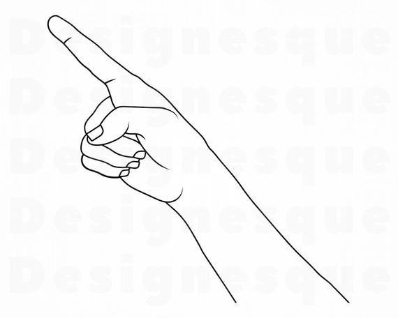 Pointing Hand Outline Svg Pointing Finger Svg Pointing Etsy In 2021 Hand Outline Pointing Hand Pointing Fingers
