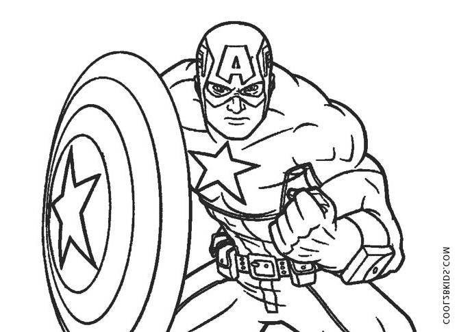 Captain America Coloring Book Naxk Free Printable Captain America