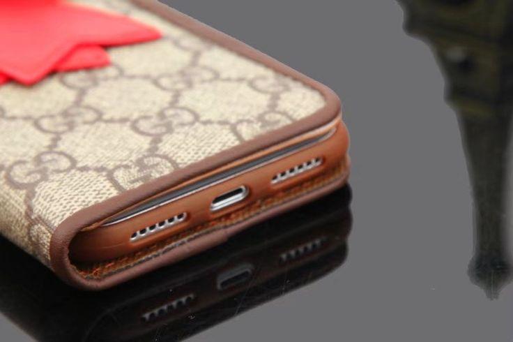 iPhone8/7sケース刺繍おしゃれグッチ革製レザー携帯Gucciプラス6Sカバー即納人気ハイブランド