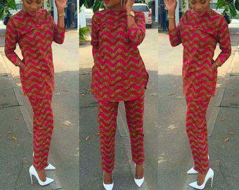Vêtements africains combinaison imprimé par CoCoCremeCouturier