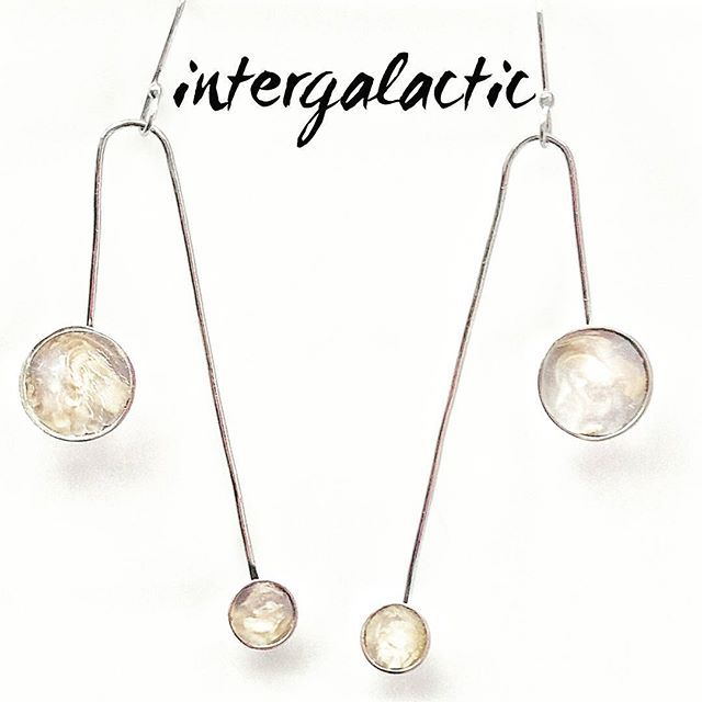 Intergalactic:(adj):Situated between two or more galaxies  #jewelry#jewellery#handmade#handsculpted#925#sterling#silver#earrings#transluscent#gold#clay#gray#white#fashion#jewelrydesigner#greekdesigners#beautiful#galaxy#jewelryphotography#mydesign#richdrop#gr#contemporary#instajewelry#✨#