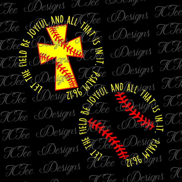Let the Field be Joyful - Christian Softball Cross - Softball Mom Design - SVG Download - Softball and Cross by TCTeeDesigns on Etsy