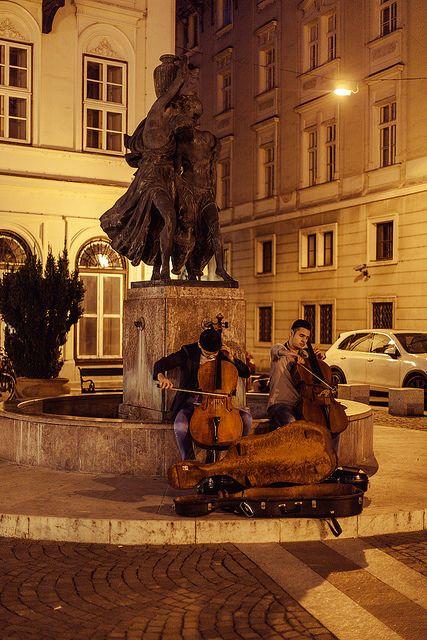 Street musicians, Budapest, Hungary