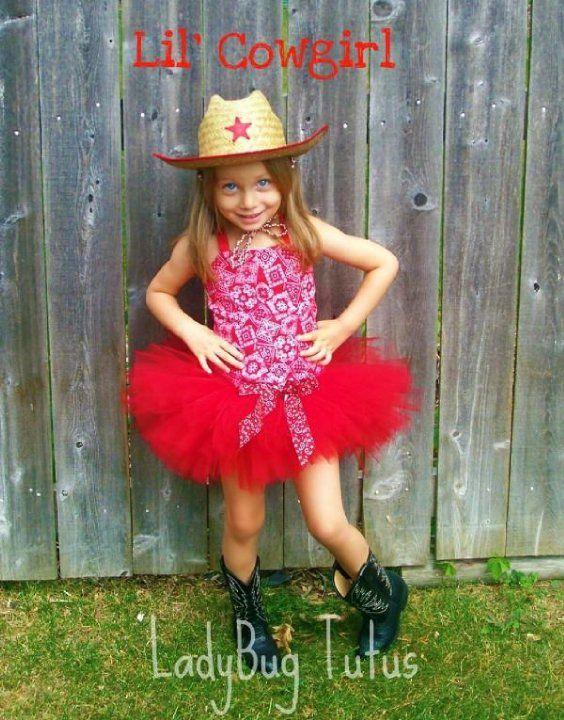Red Cowgirl Tutu Corset costume