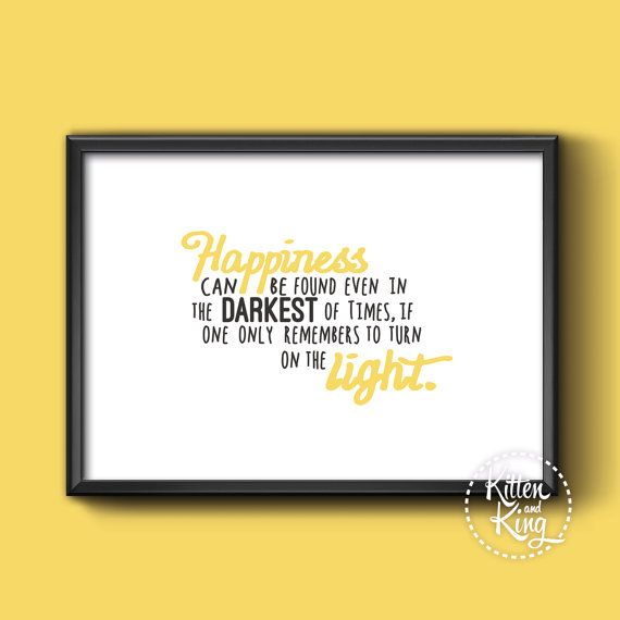 Harry Potter Quote Dumbledore  A4 A3 and A2 Wall by Kittenandking
