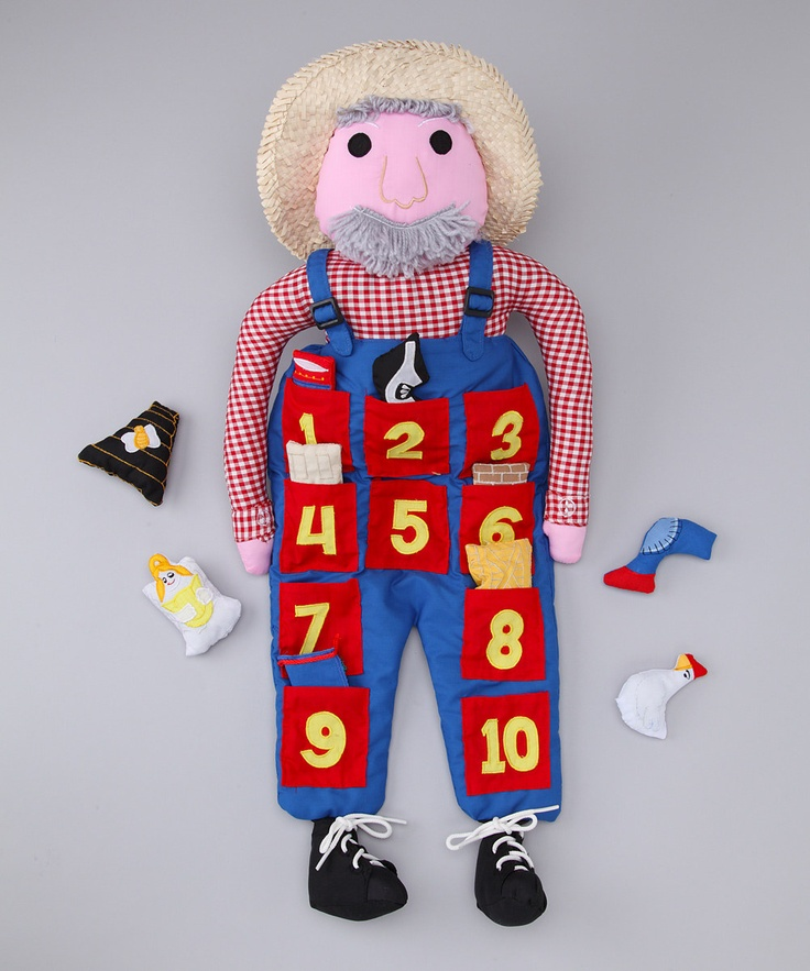 This Old Man and his set of coordinating props add an interactive twist to the nursery rhyme while teaching kids how to count along with each line of the song.