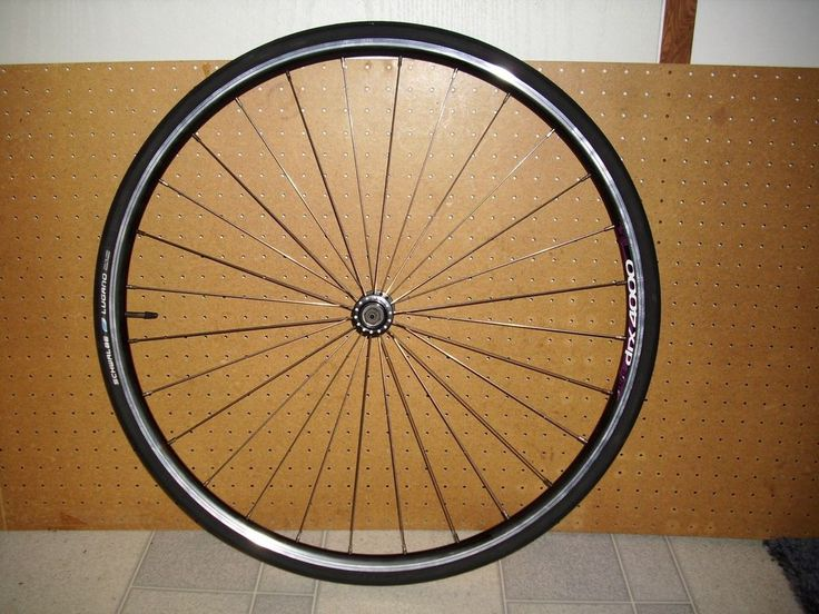 Tire: Schwalbe Lugano, size 700 x 23C, black, wire bead, and takes 110 psi. Front 700C Narrow wheel, tire, tube. Tire and tube are mounted on the rim. The tire says Active Line, LiteSkin Puncture Protection. | eBay!
