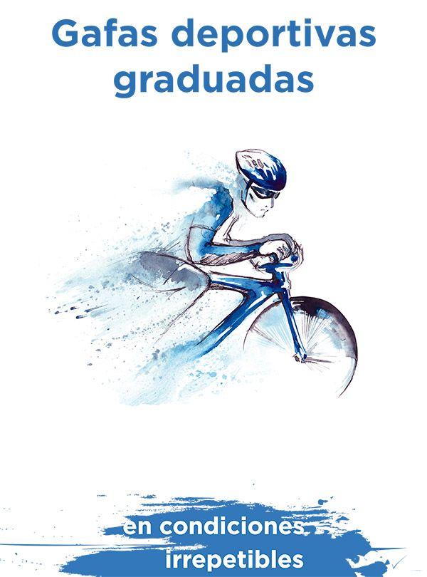Cartel de la promocion de gafas deportivas graduadas