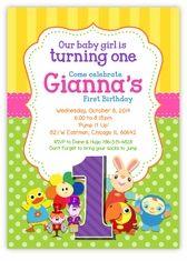 BabyFirstTV TV Favorites Vertical Birthday Party Invitation For Girls