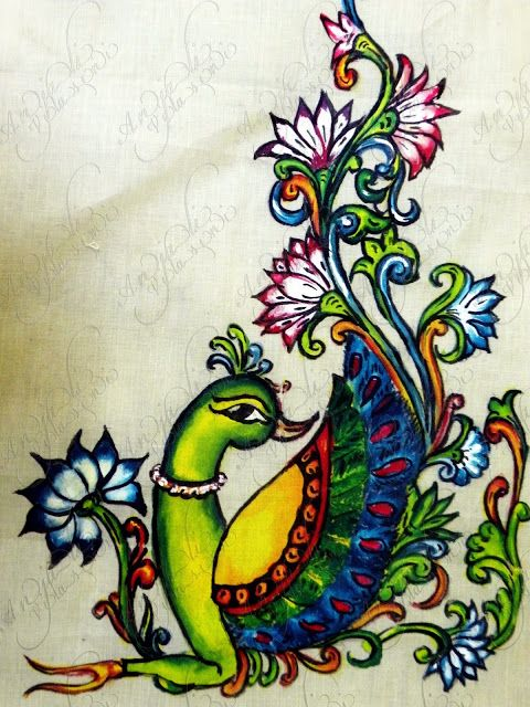 Awesome 20 painting designs inspiration of fabric for Mural painting designs