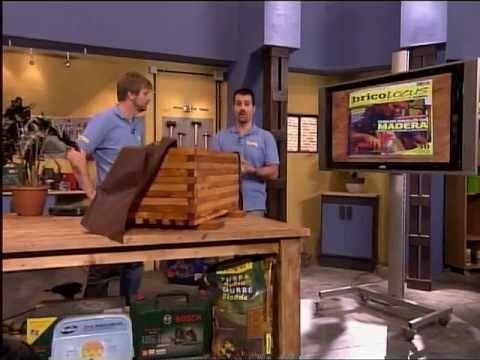 Construye con madera una jardinera