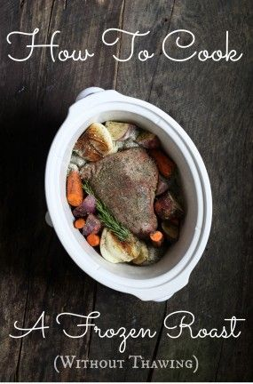 "Ranch-Style No-Thaw Roast This is a from-scratch adaptation of this ""To Die For"" pot roast which has been hailed around the web as one of the most delightful combinations of flavors every thrown into a pot and ignored for hours. 3-4 pound chuck, arm or rump roast 1 cup water or broth 1 batch ranch seasoning mix (see recipe below) 1 batch Italian seasoning mix oil fresh herbs 2-4 Tbsp thickening agent"